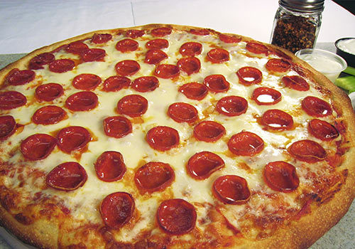 Large Cheese and Pepperoni Pizza